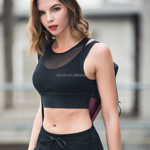 Women Sex Push up Wirefree Yoga Workout Sports Bra Soft Activewear Clothing