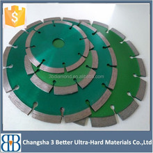 Durable U slots asphalt cut diamond saw blades and hard concrete| laser welded diamond saw blades for cutting asphalt