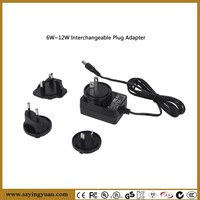 12v 1a international plug adapter ac dc changeableable power adapter