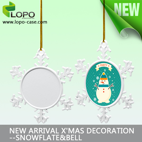 sublimation blank christmas metal ornament, dye sublimation ornament blanks