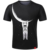 Free Shipping 3D printing men's fashion leisure round collar short sleeve summer t-shirt