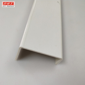 White cold extruded pvc profile for building plastic profile