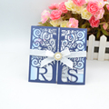 Customize Initials gate laser cut invitation cards for wedding