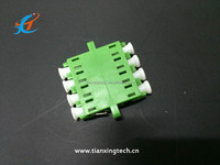 LC/APC quad fiber optic adapter