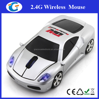 USB 2.4g wireless mouse car with blue led light