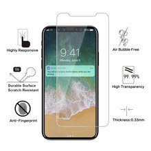 Free sample for super clear tempered glass screen protector 9H anti shock screen protector sheet for iphoneX