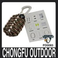 Grenade adventure survival carabiner key chain