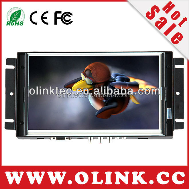 OLINK 8, 10, <strong>12</strong>, 15 INCH industrial open frame touch monitor equipped with HDMI, VGA Inputs