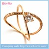 2016 newest gold filled princess ring platinum cross ring diamond gold ring