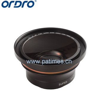 ORDRO 0.39X Super Wide Angle Lens dia.72mm Private Mold Wide Angle Lens for professional Camcorder HD video camera digital
