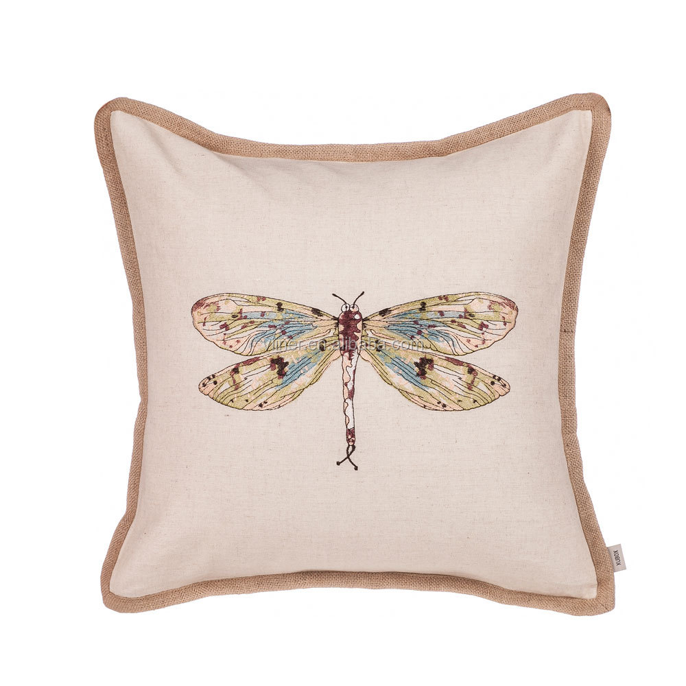 Insect Printed Throw Pillow Cover Dragonfly Decorative Cushion Sofa Cushion Pillow