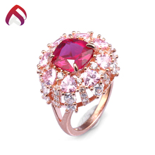 white cz created ruby ring big red stone silver ring designs for women