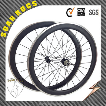 700c road bicycle wheels 50mm carbon wheelset alloy wheels clincher 23mm width with Powerway hub carbon bicycle parts
