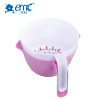 Foldable plastic double-dock washing basket vegetable&fruit basket Draining basket