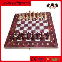 hot selling wood carving wooden 3d chess set