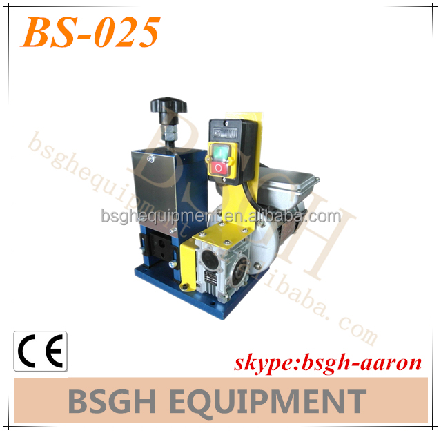scrap metal BS-006 manual copper line recycling stripper machinery