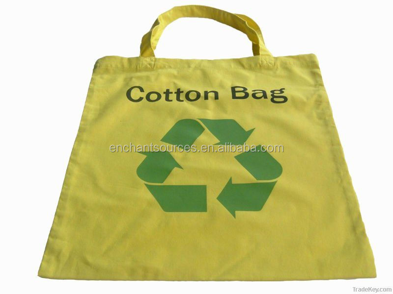 Pink cotton printed shopping bags supplier