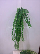new artificial green hanging plants,artificial vine grass for decoration wholesale