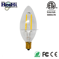 2W Dimmable LED Filament Candle Light Bulb E12 Candelabra Base Lamp C35 Halogen Replacement 40W