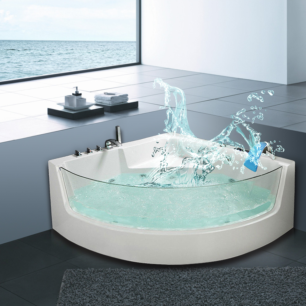 2018 Portable Acrylic Whirlpool Massage Freestanding Bath Tub - Buy ...