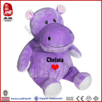 Plush Toy ICTI SEDEX Supplier Soft Valentine Toy Hippo