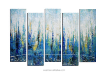 2017 New Listing Blue, White Modern Fine Art Abstract Oil Painting for Home Decor