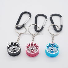 Dongguan factory directly top quality wheel hub keychain promotional wheel hub keyring hot sale in Aliexpress