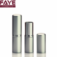 Japan Style round shape aluminum silvery wholesale lipstick cosmetic custom lipstick tube