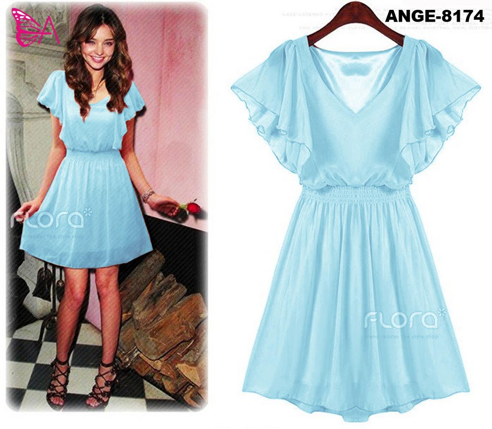 ANGELA -8174 chiffon dress