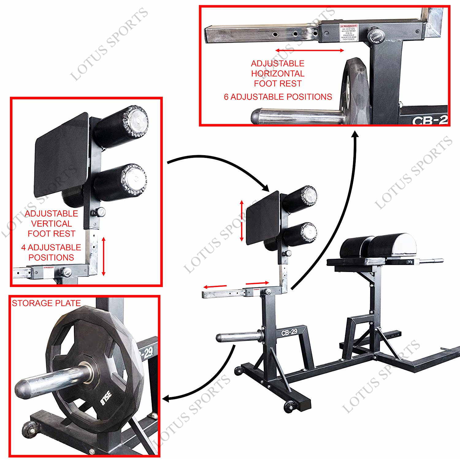 High quality commercial cross fit gym fitness equipment glute ham developer machine GHD