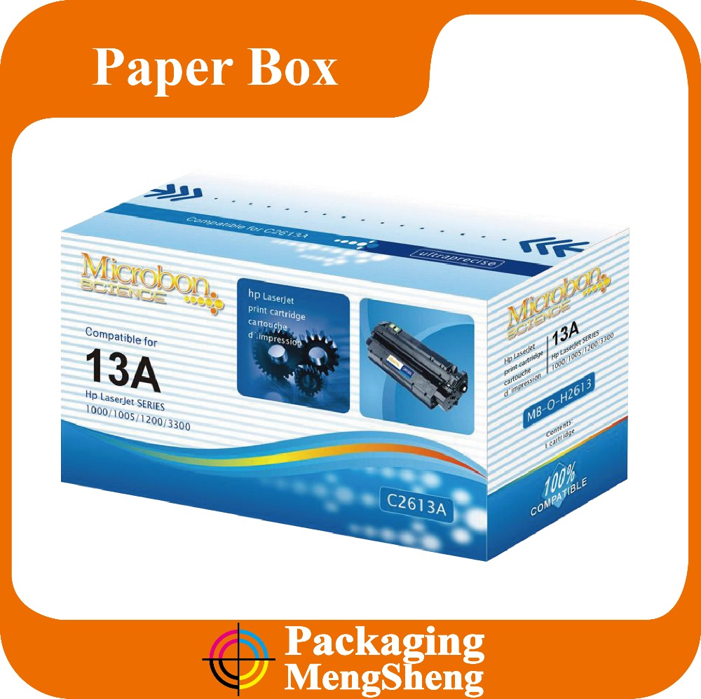 toner cartridge box, ink cartridge box, toner cartridge packing box