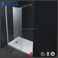 Low tray clear glass shower enclosure