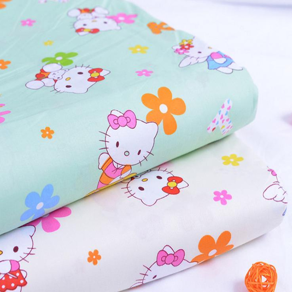 Kitty cat printed 100% Cotton bedding fabric for baby and kids