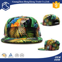 OEM custom 5 panel hawaii floral printing snapback cap hat maker