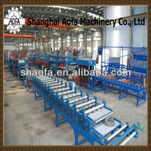 Color Steel Sandwich Panel Roller Former Making Machinery Line