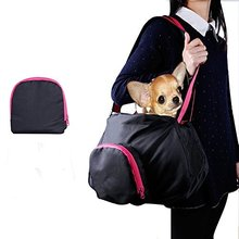 Collapsible Pet Carrier Waterproof Dog Sling Shoulder Bag Travel Handbag for Small Dogs Cat Puppy Black