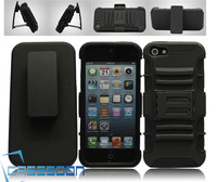 Mobile Phone Combo Robot Case Belt Clip+Stand Holter Case for Apple iPhone 5 5G
