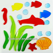 Fish & seahorse window Gel sticker