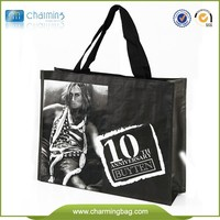 Top Quality Fashion Waterproof brand clothing bag promotional shopping bag wholsale pp woven bag with Logo printed