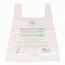 Free Samples handle biodegradable plastic carry bags with EN13432 BPI OK Home ASTM D6400 certificates