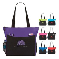 "Polyester Multi Color Transport It Tote Bag 17"" X 14"""
