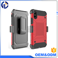 2017 Manufacturer for Iphone X Armor Impact Skin Holster Protector Combo Case cover, mobile phone case for Iphone X