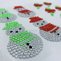 6PK Christmas Crystal Bling Stickers And Rhinestone Stickers