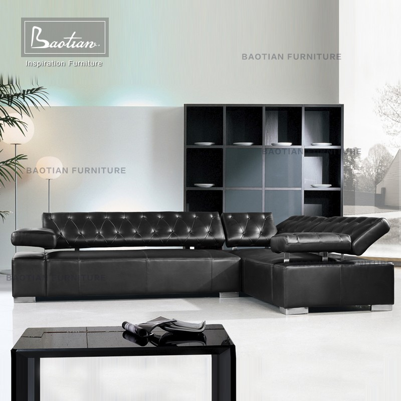 Latest designs 2015, modern leather sofa set furniture philippines