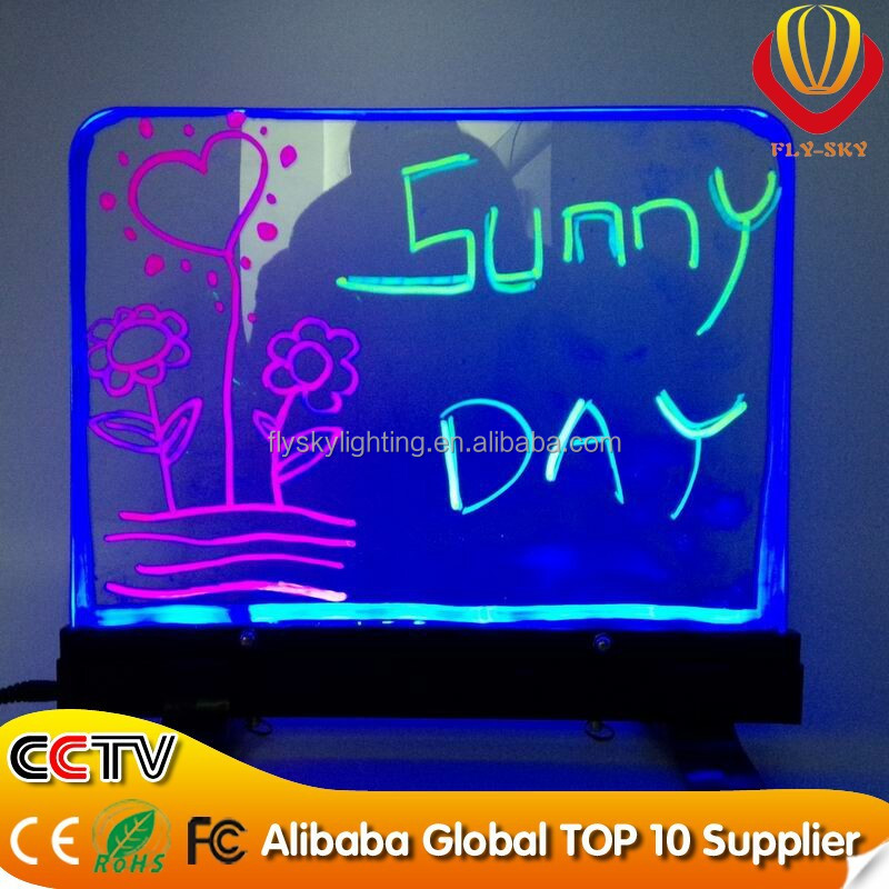 New Item led writing board with fluorescent marker pen led hand writing menu board with animation display funtion