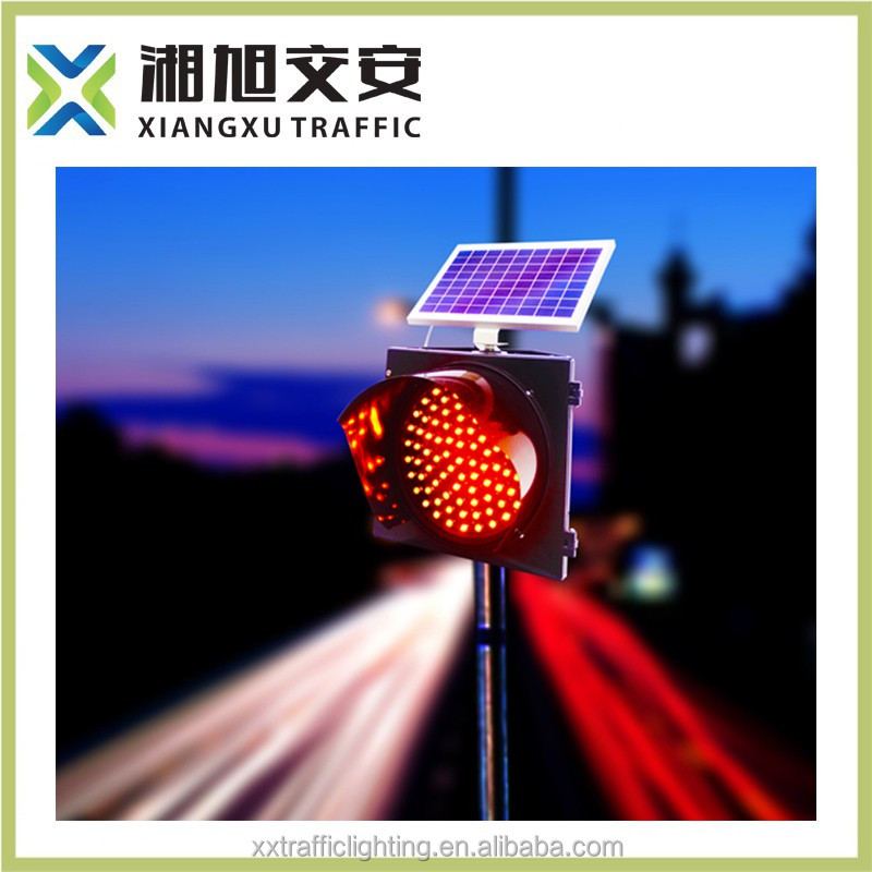 Solar led traffic blinker with red and blue color