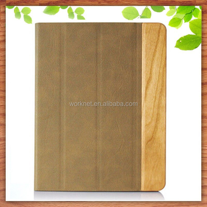 real natural wood case for ipad mini leather case