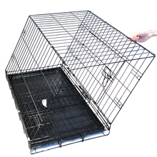 Portable Foldable Pet strong wire car dog cage