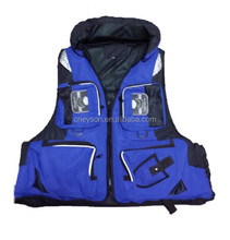new design high quality foam blue fishing vest wholesale