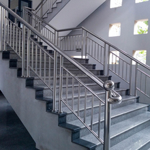 Stainless steel staircases handrail design for stair